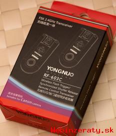 Diaľkový odpaľovák blesku Yongnuo RF603