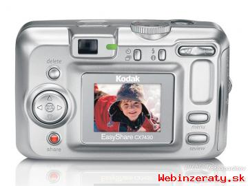 digitálny fotoaparát Kodak EasyShare cx7