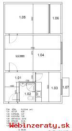 Prenájom 2-izbový byt Komárnická ulica