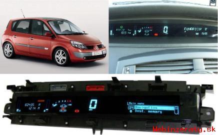 Renault prístrojová doska,display opravy