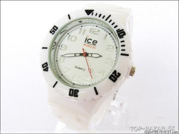 ice watch silikonové biele hodinky LACNO