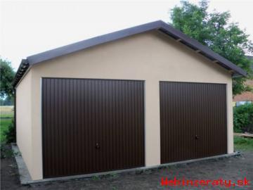 Montovaná garáž - omietka